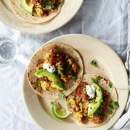 Breakfast Tacos for Dinner (With Eggs & Chorizo)