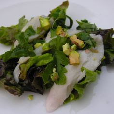 Ceviche, dressed in green