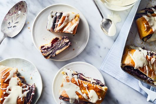 Sweet, Swirly Blueberry Buns That Are Bursting with Flavor