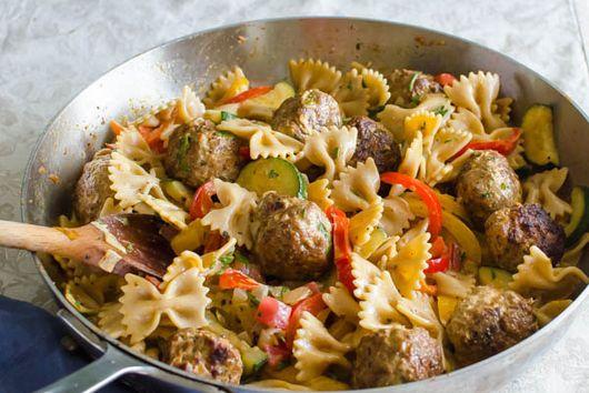 Cajun Meatballs and Pasta