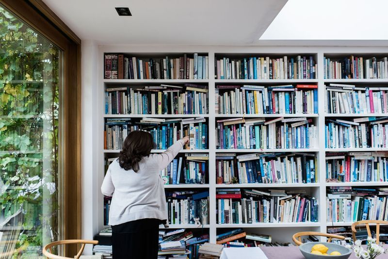 Diana Henry and her 4,000 cookbooks
