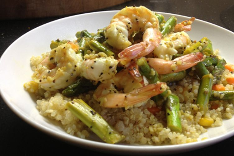 Lemony Shrimp and Quinoa