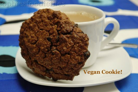 Vegan coconut chocolate chip oat cookies!