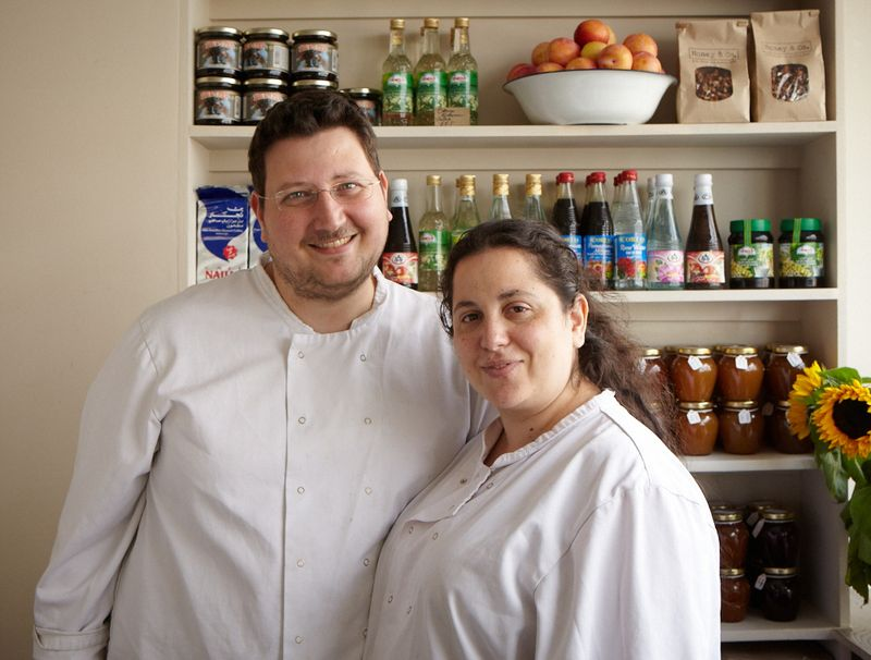 Honey & Co. authors Itamar Srulovich and Sarit Packer.