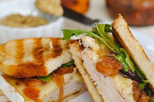 Turkey, Brie & Peach Panini