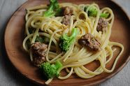 Linguine with Sausage and Broccoli