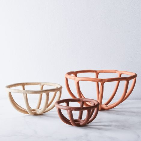 Handmade Nested Coil Prong Bowls