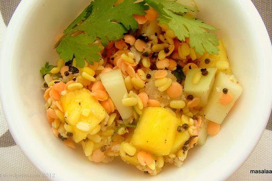 Summertime Lentil Salad With Mango