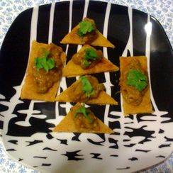 Baigan Bhartha on Makki Di roti Bites