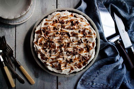 Chocolate, Cajeta, and Salted Pecan Mud Pie