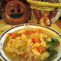 Soupa de Quinoa con Pollo (Peruvian Quinoa Soup with Chicken)