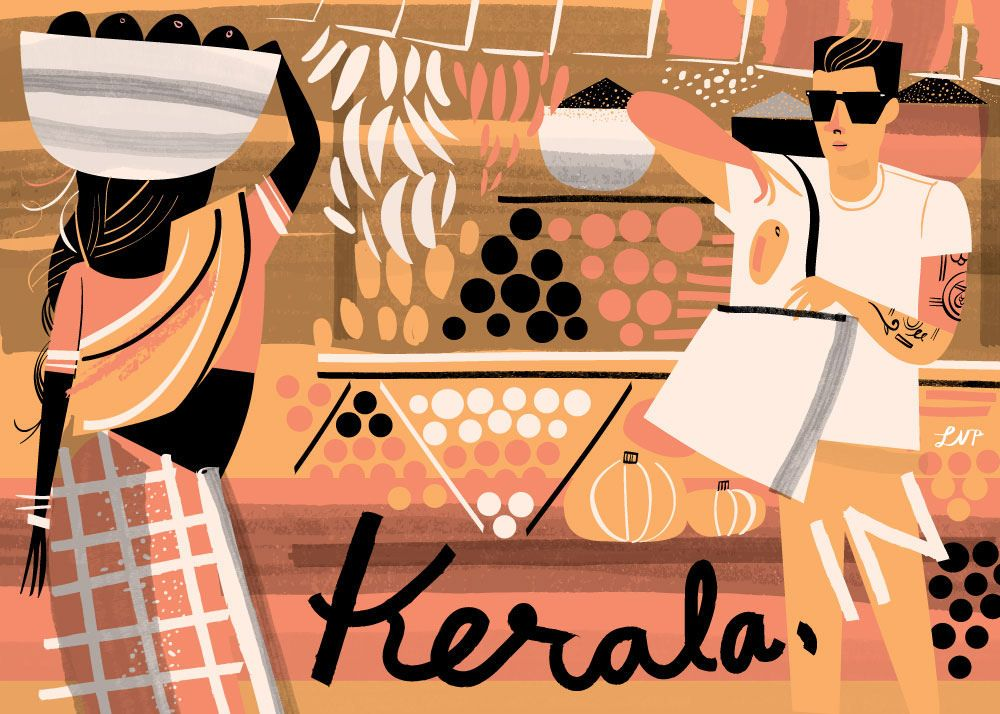 Kerala India Postcard by Libby VanderPloeg