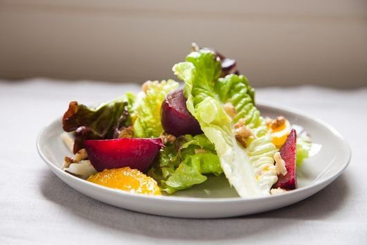 Retro Recipe: Red Leaf Salad with Roasted Beets, Oranges & Walnuts
