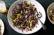 Hot Sesame Celery with Ruby Cabbage