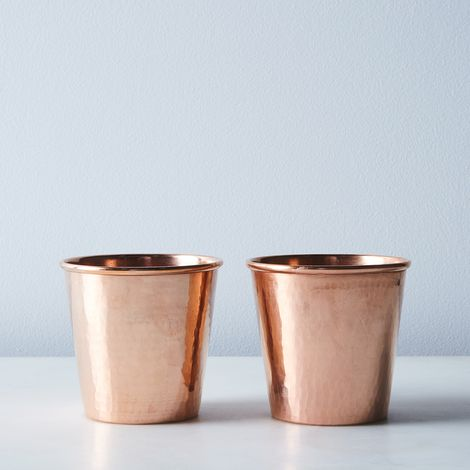 Hammered Copper Water Cups (Set of 2)
