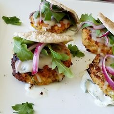 Crabcake Pita Sliders