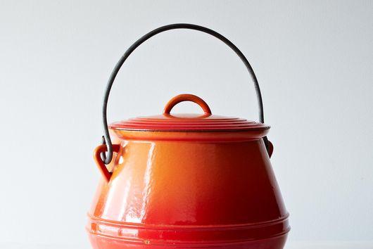 Vintage Descoware Enamel Soup Kettle