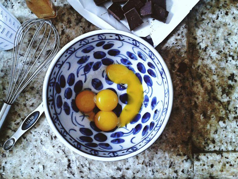 Baking in Laura Biscaro's kitchen.