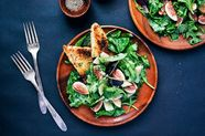 Fig and Manchego Salad with Herbed Croutons