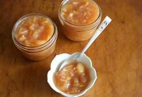 Honey-Sweetened White Peach Jam