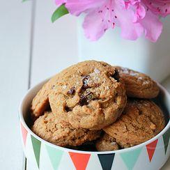 Espresso salted dark chocolate chunk cookies