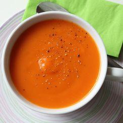 Springtime Sweet Potato Soup with Coconut and Lemongrass