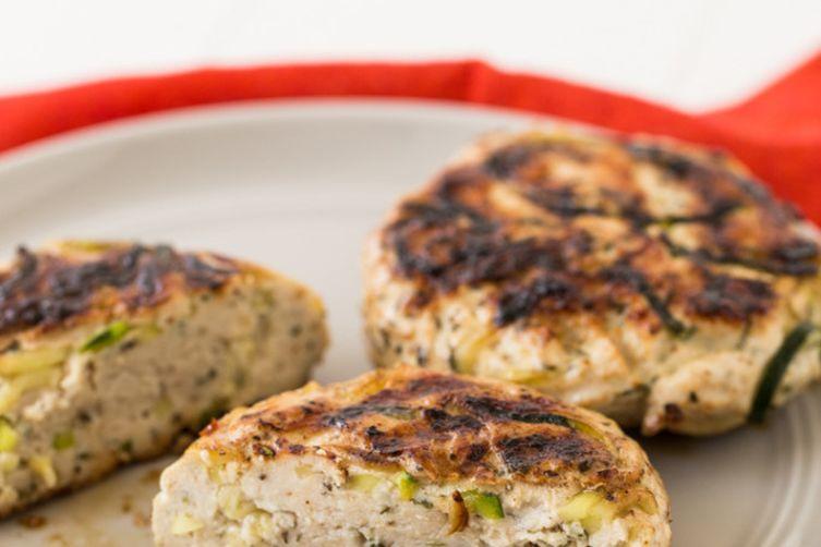 Italian Zucchini Noodle Turkey Burger Patty