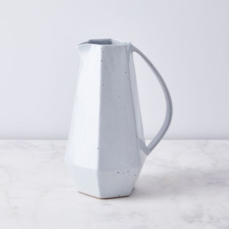 Faceted Salt Glaze Ceramic Pitcher