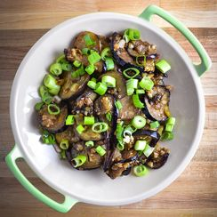 Japanese Eggplant With Ginger And Scallions