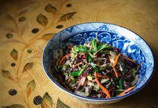 Pressed Cabbage Salad with Ginger Miso Vinaigrette