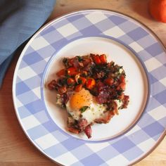 Sweet Potato, Kale, and Country Ham Hash with Maple Red Eye Gravy