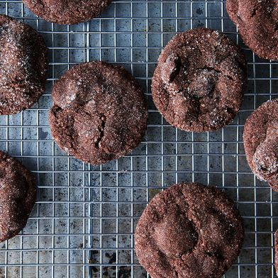 Soft Chocolate Almond Cherry Cookies