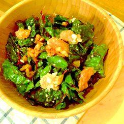 Swiss Chard, Grapefruit, Gorgonzola, & Candied Walnut Salad