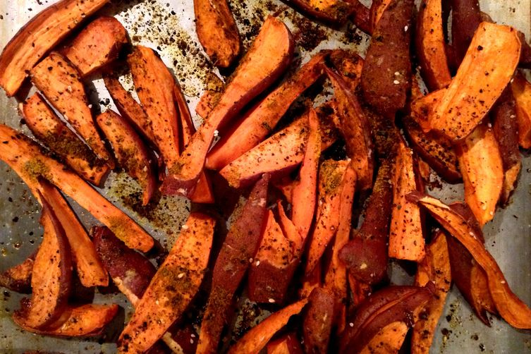 Peruvian Aji Amarillo Sweet Potato Wedges