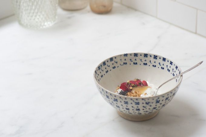 Pluot and Poppy Yogurt