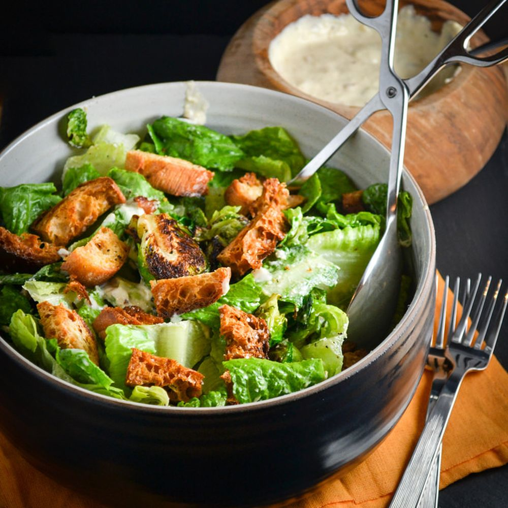 Brussel Sprout Salad With Creamy Garlic Dressing Recipe On