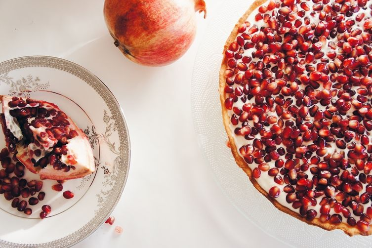 Creamy Pomegranate Tart