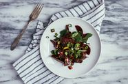 Marinated Beet Salad with Garlic Confit Vinaigrette