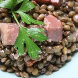 Warm Lentil Salad with Sausage and Potatoes - Salade de Lentilles à la Lyonnaise