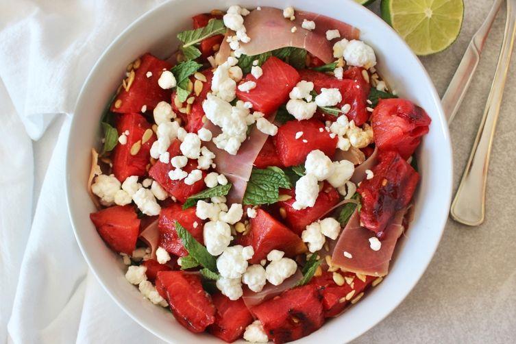 Grilled Watermelon & Prosciutto Salad