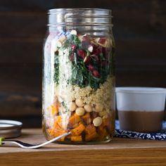 Kale Autumn Salad in a Jar