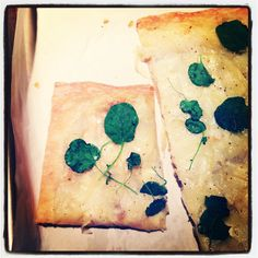 Mosaic potato tart with watercress