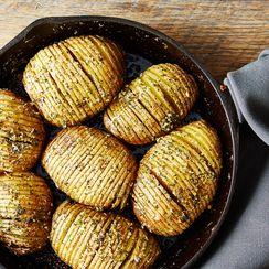 Hasselback Potato Skillet Bake