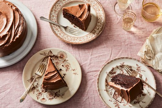Fudgy Gluten-Free Chocolate Cake With Hazelnut Frosting