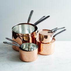 Vintage Copper English Saucepan, Mid 19th Century