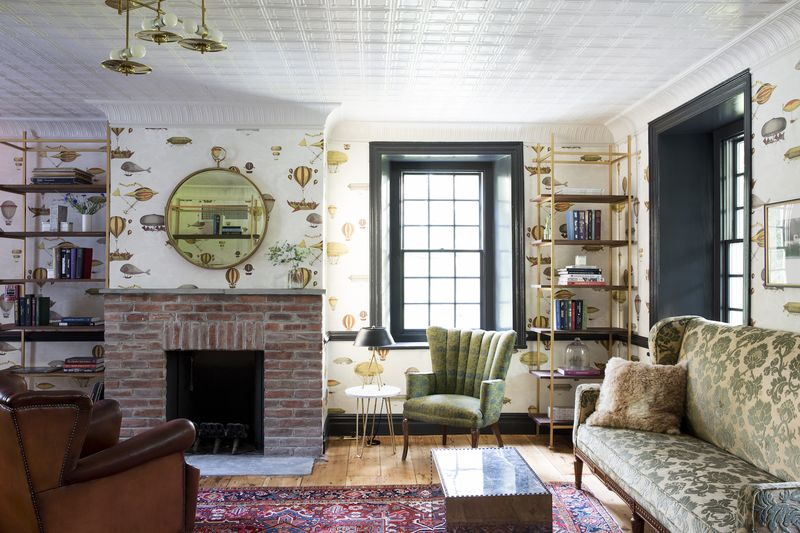 The very delightful Club Room (and those bookshelves, again!)