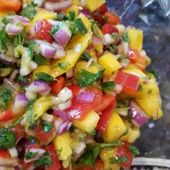 Vibrant and Colorful Mango Salsa