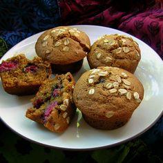 Raspberry Multigrain Muffins