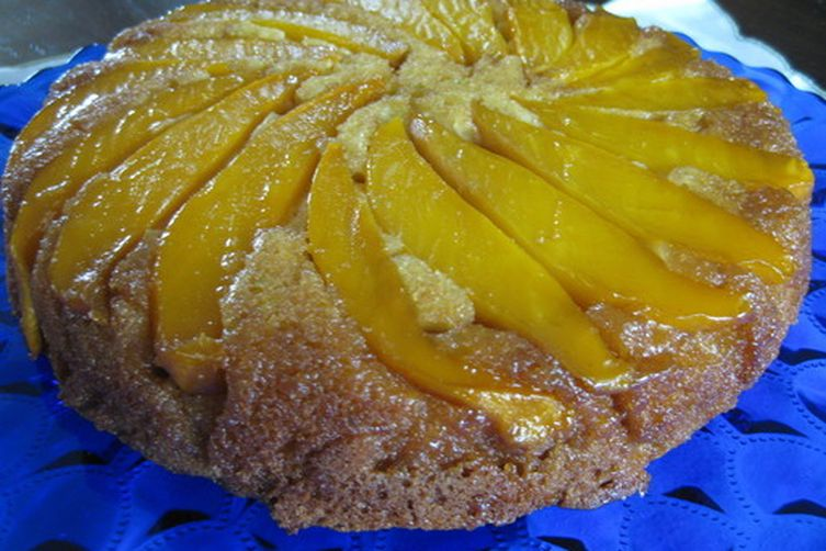 Buttermilk Mango Upside Down Cake
