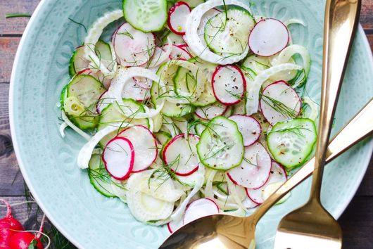 Cucumber, Radish and Fennel Salad with Mandarin Vinaigrette